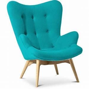 Fauteuil Bleu Turquoise : fauteuil cachemire turquoise inspir grant featherston ~ Teatrodelosmanantiales.com Idées de Décoration