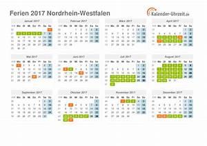 Nord Rhein Westfalen : ferien nordrhein westfalen 2017 ferienkalender zum ausdrucken ~ Buech-reservation.com Haus und Dekorationen