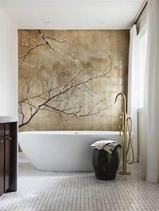 comment creer une salle de bain zen With salle de bain mosaique blanche