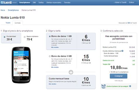nokia lumia 610 disponible con tuenti m 243 vil windows phone en espa 241 ol