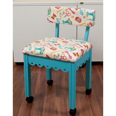 Blue Sewing Chair  Arrow Sewing Cabinets