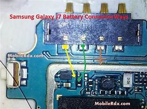 Samsung Galaxy J7 Battery Connector Point Ways