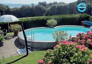 Pool Ohne Bodenplatte : schwimmbecken set als achtform stahlmantel pool mit ~ Articles-book.com Haus und Dekorationen