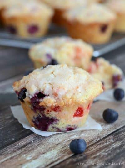 sour cream blueberry muffins creations  kara
