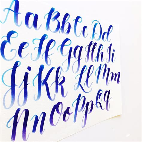 brush lettering alphabet calligraphy with capital letters freebies 22082