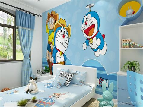Modern Children's Room Wallpaper Non Woven Comics Cartoon