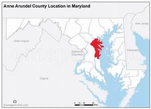 anne arundel county location map maryland | Emapsworld.com