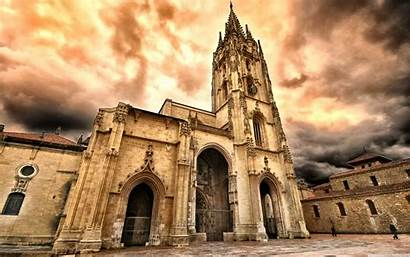 Oviedo Catholic Cathedral Wallpapers Desktop 4k Architecture