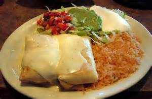 Chicken Chimichanga with Rice and Beans