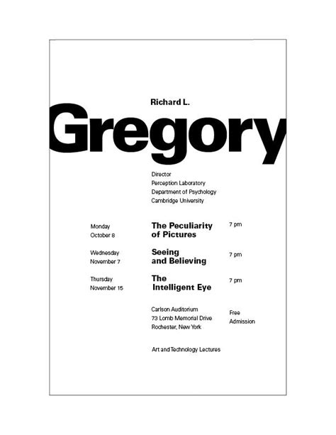 typographic hierarchy rit college of imaging arts