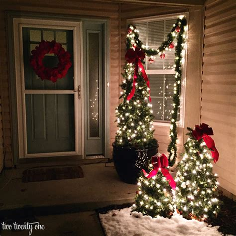 porch trees for outdoor decorations