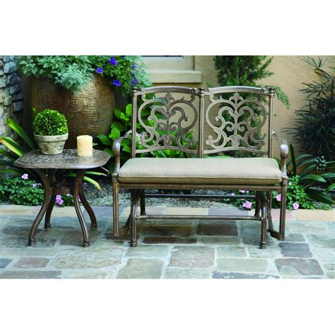 darlee santa barbara patio furniture darlee santa barbara 2 cast aluminum patio bench