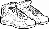 Coloring Shoes Pages Basketball March Madness Printable sketch template