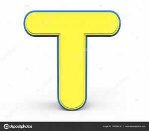 cute yellow letter T — Stock Photo © kchungtw #130796218