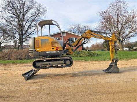 mustang   mini rubber track excavator backhoe bob cat hydraulic hoe dozer  sale