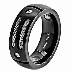 8mm satin titanium ring black men39s wedding band ebay With black men wedding ring