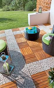 Holzplatten Für Balkon : holzfliesen balkon holzterrasse ~ Frokenaadalensverden.com Haus und Dekorationen