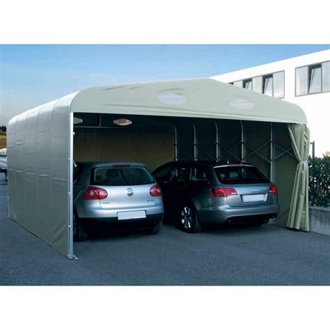 garage pvc pliant double  abri repliable pour