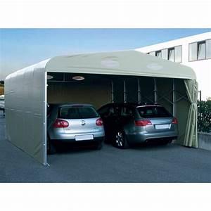 Garage Pour Voiture : garage pvc pliant double un abri repliable pour 2 ~ Voncanada.com Idées de Décoration