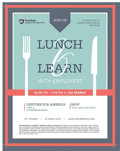 lunch learn  venture  america april