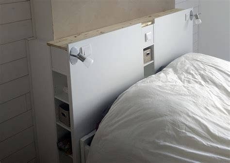 Magnifique Tête De Lit Ikea Avec Rangements En Diy