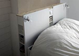Lit Ikea Rangement : magnifique t te de lit ikea avec rangements en diy ~ Teatrodelosmanantiales.com Idées de Décoration