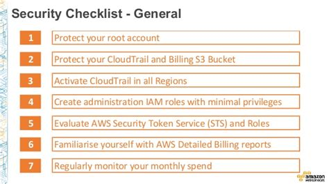 aws security checklist