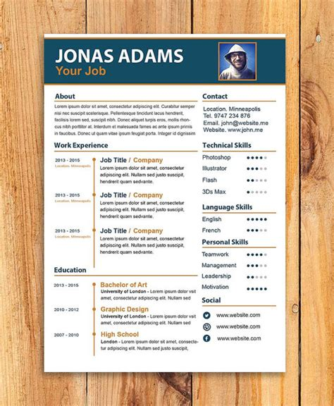 custom resume template cv templateword resume template