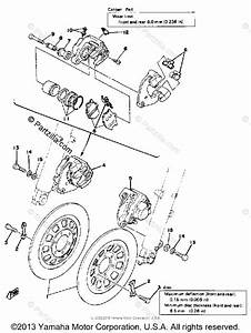 Yamaha Motorcycle 1979 Oem Parts Diagram For Front Brake