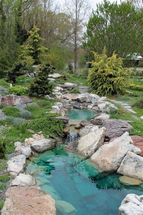 Garten Pflanzen Bäume by Teich Bachlauf Garten Basser Sauber Pflanzen Baeume