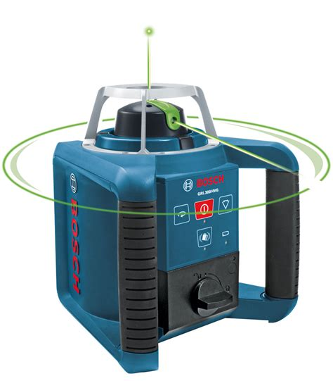 bosch laser level bosch grl300hvg self leveling green rotary laser with layout beam amazon com