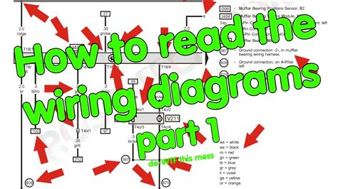 how to read wiring diagrams part 1 of 2 youtube