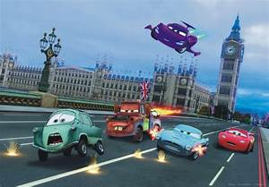 XXL Poster Wall mural wallpaper Disney Cars 2 London
