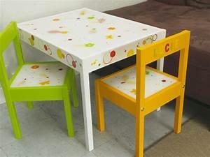 Table Enfant Avec Chaise : customiser un meuble pour votre enfant et avec lui une table et des chaises ~ Teatrodelosmanantiales.com Idées de Décoration