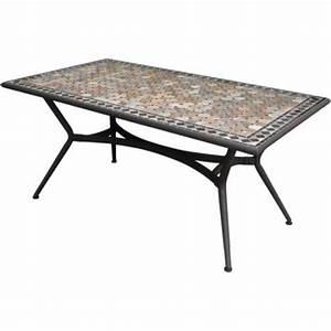 table de jardin marocco rectangulaire bronze 6 personnes With table de jardin rectangulaire