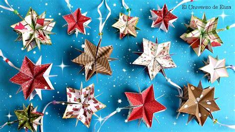 como adornar un arbol de navidad de papel decoraci 243 n para navidad c 243 mo hacer estrellas de papel