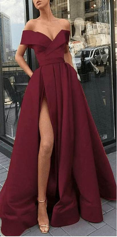 Prom Elegant Formal Line Evening Split Gowns