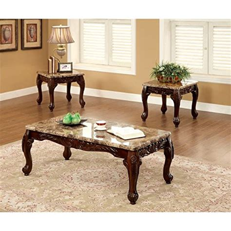 Sofa Table And End Table Set by Furniture Of America Beltran 3 Traditional Faux