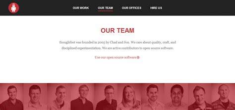 page  team page inspiration   examples