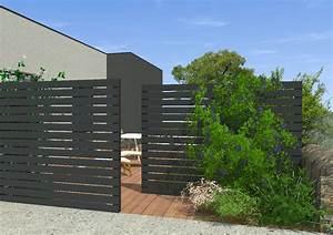 Maison De Jardin : jardin autour d 39 une maison contemporaine mon jardin en ligne ~ Premium-room.com Idées de Décoration