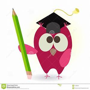 Owl And Pencil Stock Image - Image: 15768341