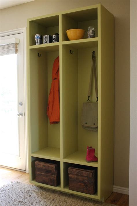 entryway storage lockers woodworking plans