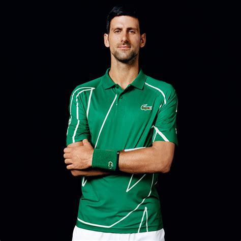 buy lacoste novak djokovic polo men dark green white