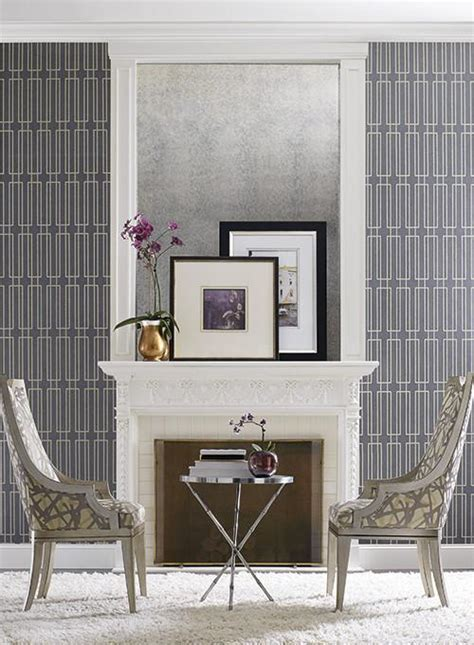 Terrace Wallpaper in Pale Taupe design by Candice Olson