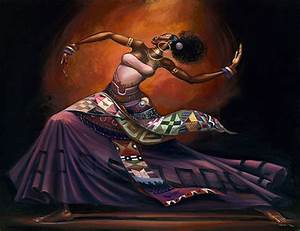 30 Stunning Black woman Paintings and Illustrations by ...