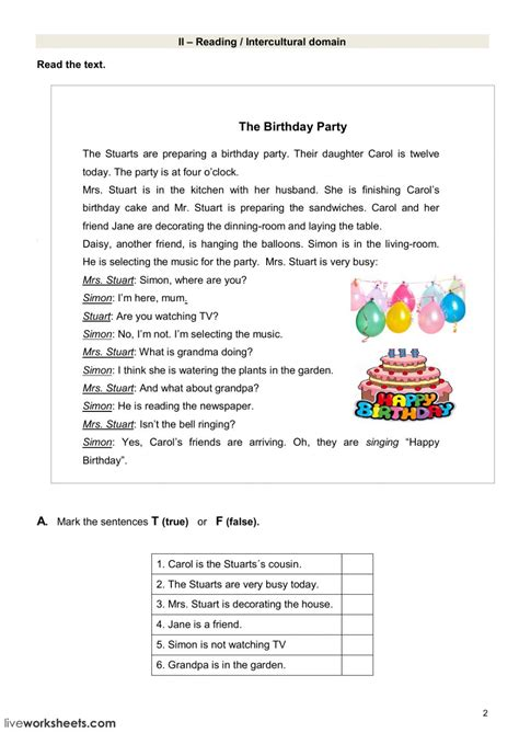 test  daily routine interactive worksheet