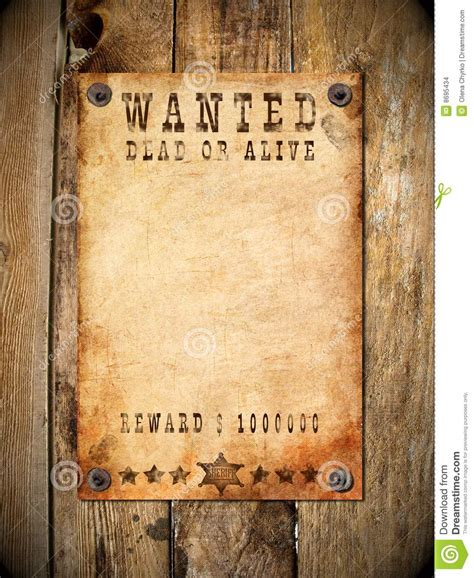 vintage wanted poster stock photo image  paper