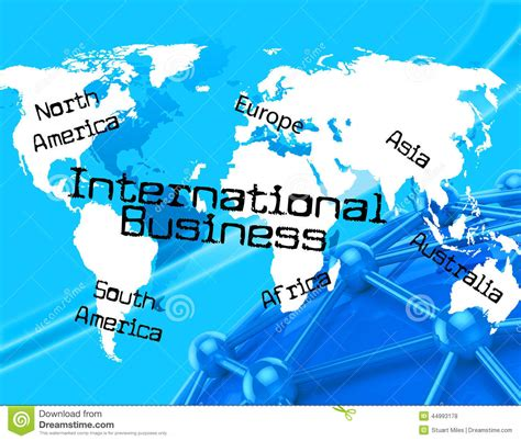 International Business Represents Across The Globe And Countries Stock Illustration