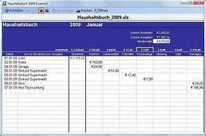 Haushaltsbuch Online Kostenlos : excel vorlage haushaltsbuch 2009 download ~ Orissabook.com Haus und Dekorationen