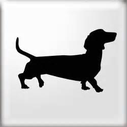 Dachshund Dog Silhouette Stencil
